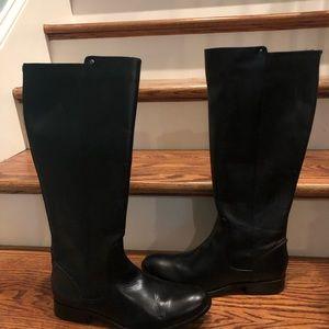 Frye women's black boots sz 10 extended calf new